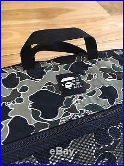 100% authentic Bape Psyche Camo Laptop Case MacBook Pro Duffle Bag Backpack #856