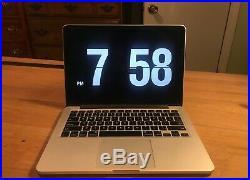 13 Apple 2013 MacBook Pro RETINA 2.4 GHz i5 128GB 8GB RAM + Bundle Leather Case
