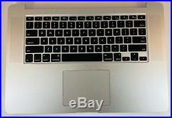 15 Mid 2015 Apple MacBook Pro Retina A1398 Top Case Keyboard Trackpad Battery
