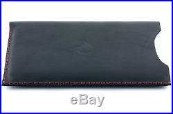 15 inch MacBook Pro Thick Natural Black Leather Sleeve Case Modern
