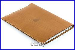 15 inch MacBook Pro Thick Natural Brown Leather Sleeve Case Classic