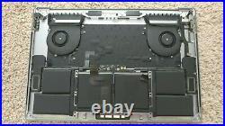 APPLE MACBOOK PRO A1990 case KEYBOARD PALMREST TRACKPAD BATTERY Space Gray A- 6
