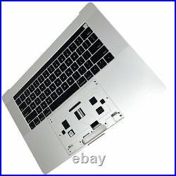 Apple 15 MacBook Pro Silver Top-Case Keyboard Battery 2016 2017 / A1707 A+
