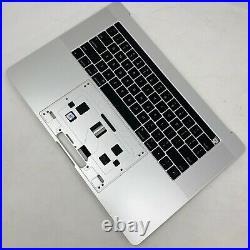 Apple 15 MacBook Pro Silver Top-Case Keyboard Battery 2016 2017 / A1707 A
