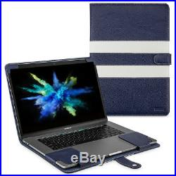 Apple MacBook Pro 15 (2016/17) Touch Bar Leather Case Cover Blue Black White