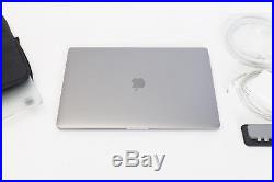 Apple MacBook Pro 15 2016 Space Gray 256GB Touch Bar +Cases & Hub MLH32LL/A VG+