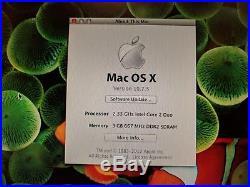 Apple MacBook Pro 15in A1150 2.33ghz 3GB RAM 500GB HDD bundle +case +new battery