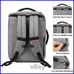 Apple MacBook Pro 16 Case Briefcase Messenger Backpack Strap USB port Pockets