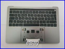 Apple Macbook Pro 13 A1706 2016-17 Top case German Keyboard Space Grey Grade B+