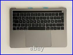 Apple Macbook Pro 13 A1706 Topcase Gehäuse Tastatur Trackpad Touchbar Spacegrau