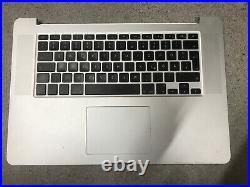 Apple Macbook Pro 15 Retina A1398 Top case Keyboard