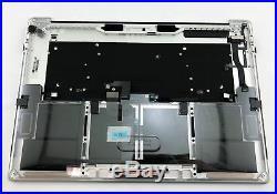 Apple Macbook Pro A1707 2016 15 Gray Touch Bar Top Case Keyboard 661-06378
