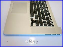 Apple Macbook Pro Retina A1398 6532 Top Case with Battery Speakers 15 2012 2013