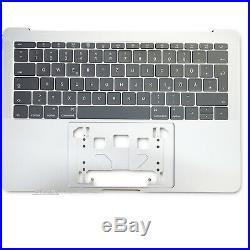 Apple Macbook pro Retina 13,3 A1708 Topcase Keyboard Case 2016 2017 Silver