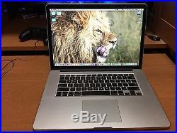 BUNDLE Mid-2015 Apple MacBook Pro 15.4 Retina, AppleCare, and custom Bamboo Case