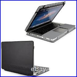 Black VanGoddy Laptop Portfolio folding Case for Apple MacBook Pro 13'