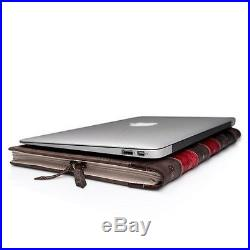 BookBook Vintage Leather Book Sleeve Case for 13-inch MacBook Pro with Retin
