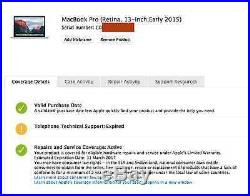 Brand New MacBook Pro Retina 13 MF839LL/A 3.1ghz i7 16GB 128GB Case Bundle