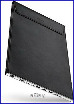 DockCase Docking Hub Station and Leather Sleeve Case (black) for MacBook Pro 13