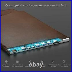 DockCase Ultimate Docking Station and Leather Sleeve Case Bag for MacBook Pro