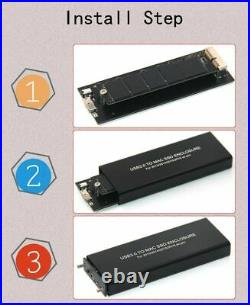 For Macbook Air Pro SSD Disk USB 3.0 Mac Case Enclosure A1466 A1465 A1398 A1502