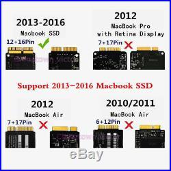 Fr Apple MacBook Air Pro 2013 2014 2015 A1465 A1466 SSD Enclosure Case USB 3.0