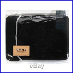 GMYLE Macbook Pro 13 4 in 1 Black Frosted Hard Case Sleeve Bag and Keyboa
