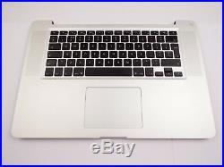 Genuine MacBook Pro 15 A1286 2011 2012 Palmrest Upper Top Case Assembly 50