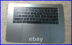 Gray Top Case Palmrest keyboard Touchbar MacBook Pro A1707 15 2016 2017 READ 1