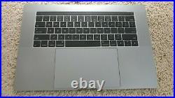 Gray Top Case Palmrest keyboard Touchbar MacBook Pro A1707 15 2016 2017 p. Bt A