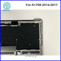 Grey for Macbook Pro Retina 13 A1708 Top case + US Keyboard Late 2016 Mid 2017