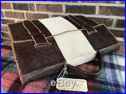 HANDMADE VINTAGE 1970s PALOMINO ALL LEATHER MACBOOK PRO 15 BRIEFCASE CASE R$1098