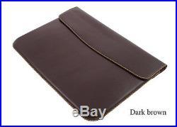 Handmade Genuine Leather Sleeve Case For Apple Macbook Pro 15 Retina Display