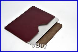 Handmade Genuine Leather Sleeve Case for MacBook Pro 15 Retina Display