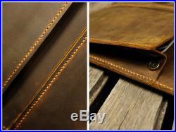 Handmade leather macbook New 13 pro case sleeve bag leather laptop portfolio bag