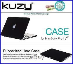 Kuzy BLACK 17-inch Rubberized Hard Case for MacBook Pro 17 Model A1297