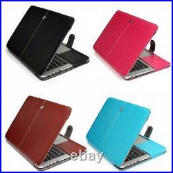 Leather Flip back Cover case For Apple MacBook PRO & MACBOOK AIR models