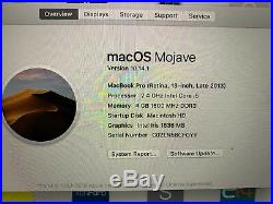 Logic Board And Bottom Case Late 2013 13 MacBook Pro Retina 2.4GHz i5 4GB RAM