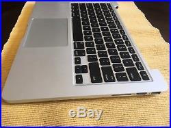 Logic Board & Top Case MacBook Pro 13 RETINA A1502 Late 2013 Keyboard Battery
