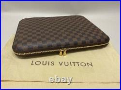 Louis Vuitton Notebook Laptop Etui Case Für 13° Macbook Pro Damier Ebene Canvas