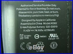 MacBook Pro 13A1502 Early 2015 OEM Top Case withBattery Keyboard 661-02361 #4GLP