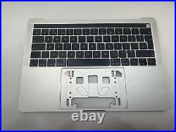 MacBook Pro 13 Touch Bar A1706 2016 2017 Palmrest Top case Keyboard Silver