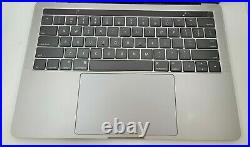 MacBook Pro 13 with Touch Bar Top Case with Battery, Space Gray A1706 2016 2017