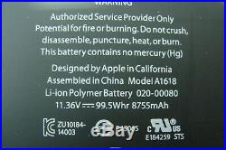 MacBook Pro 15 A1398 2015 MJLQ2LL/A MJLT2LL/A Top Case Battery 661-02536 #1GLP