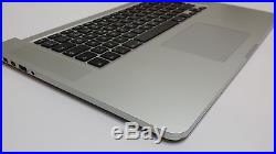 MacBook Pro 15 Retina Top Case Spanish Keyboard with Battery Late 2013 Mid 2014