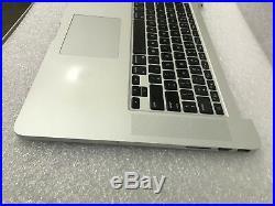 MacBook Pro Retina 15 A1398 2012 Early-2013 Top Case Asbly KB/TP/Batt 30dayWTY
