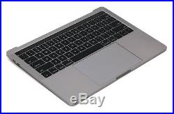 Macbook Pro 13 2016 A1706 Gray Top Case Keyboard Battery A1819 Trackpad A+