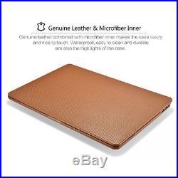 Macbook Pro 13 inch Case, Icarer Premium Genuine Leather Utra Slim Lightweight