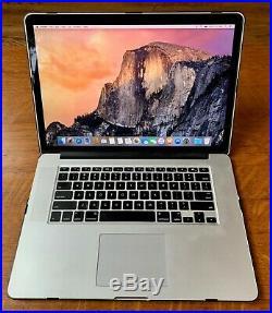 Macbook Pro 15 Retina Display i7, 2.8ghz, 1tb SSD, 16gb RAM with Tech21 case