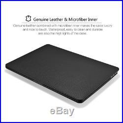 Macbook Pro 15 inch Case, Icarer Premium Genuine Leather Utra Slim Lightweight S